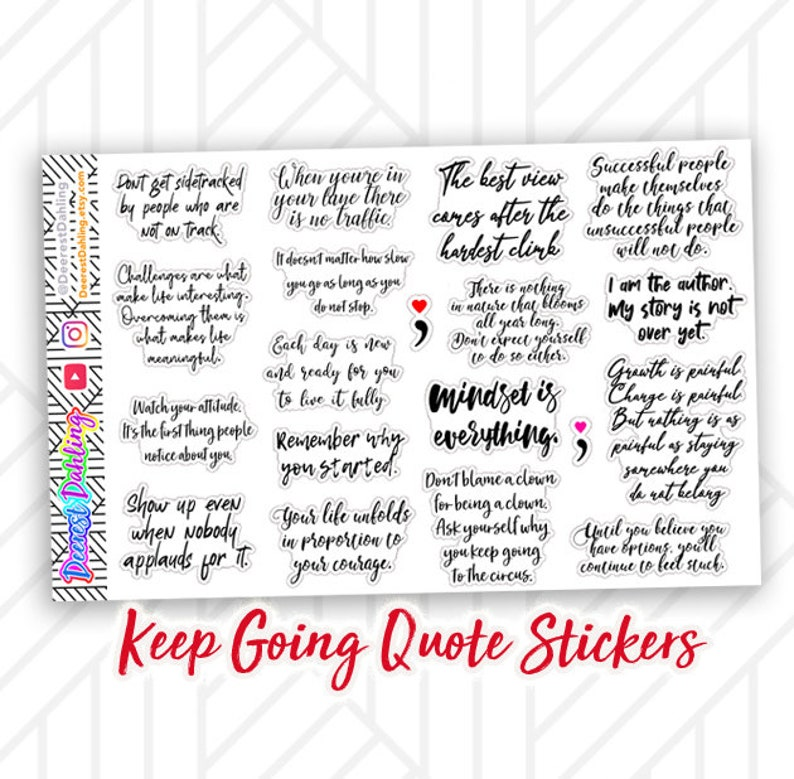 Affirmation Quote Script Stickers for Happy Planner and Life image 0