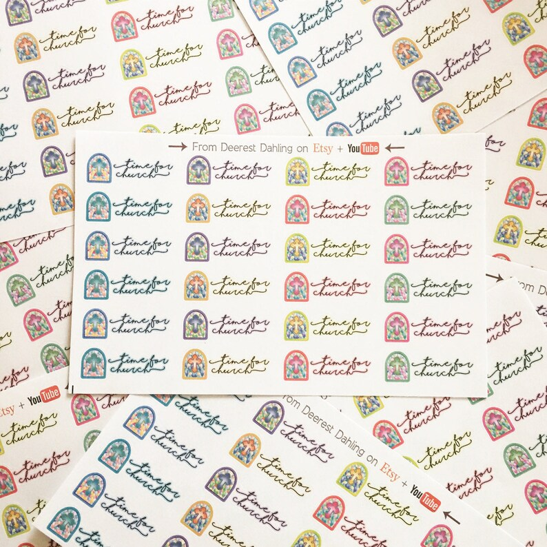 Church Service Sticker for Happy Planner and Life Planner  image 0