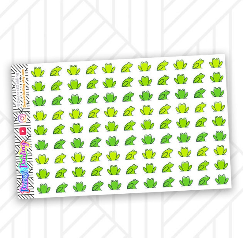 99 Eat the Frog Green Stickers for Happy Planner and Life image 0