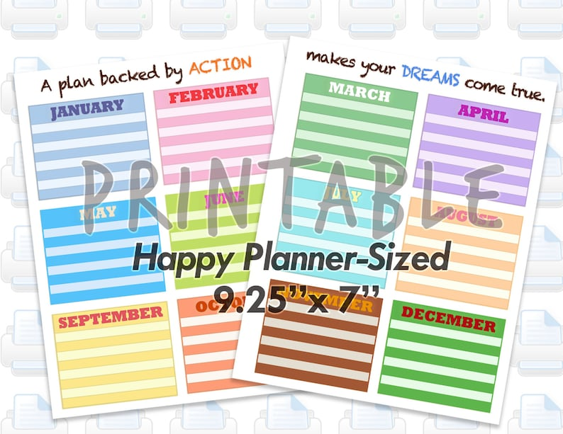 Printable Teacher Homeschooling Planner Pages for MAMBI Happy image 0