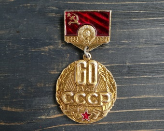 Soviet decor USSR memorabilia russia lenin communist propaganda vintage decorative plate 50 years of the October Revolution of 1917