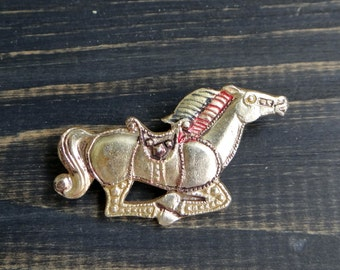 Horse pin Horse badge Metal pin button Christmas gift for women Circus pony Party decor Gifts for girls Hipster backpack pin