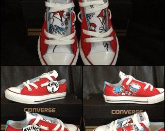 Custom Hand-Painted Dr. Seuss Toddler (sz 2-10) Chucks Converse 64e604726