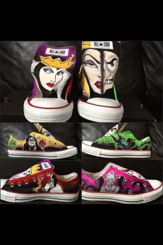 Disney Villains Custom Adult Chucks Converse Design YOUR  b56f88800bca