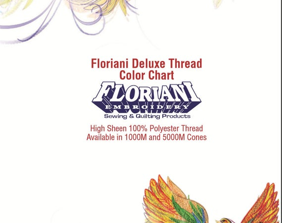 Floriani Thread Chart Csv For Brother Pe Design 10 360 Etsy