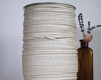 1500 ft spool of 5mm 3 Strand Cotton Rope, Macrame Rope, Macrame Cord, Cotton Rope