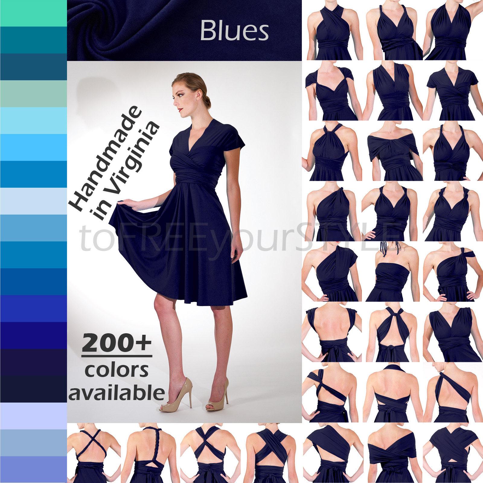 c39f662622 Infinity Dress, FULL style, bridesmaid dress, convertible dress, wrap  dress, Custom Handmade, 200+ colors, Any Size & Length