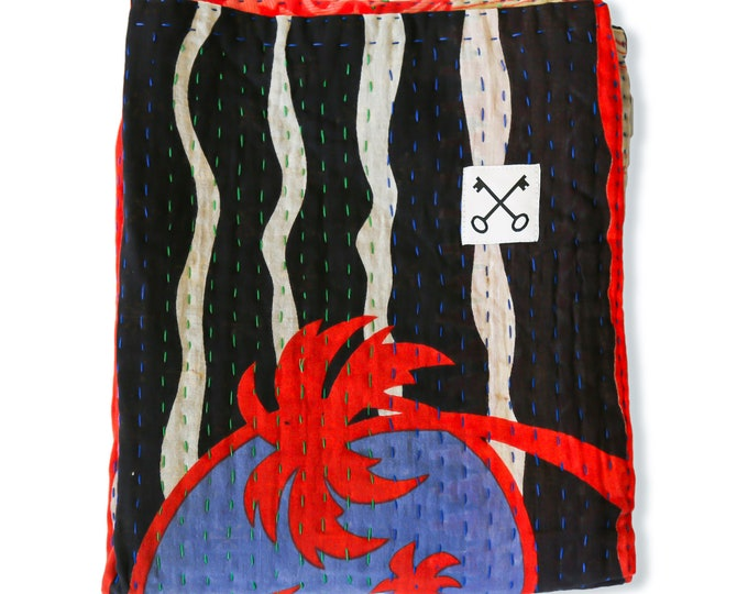 The Sari Quilt - Cali Palms - Handmade by those at risk or affected by human trafficking