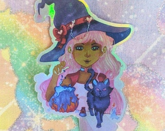 Witch Love Potion Holographic Sticker