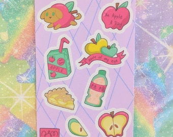Apple Themed Stickers