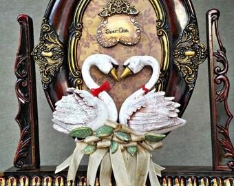 Swan Couple Love Endearment