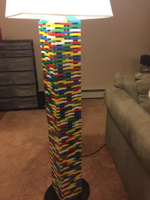 XXXL Multicolor Rainbow Floor Lamp made of LEGO® Bricks w LED Lighting Effects! Free Shipping!