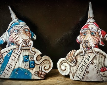 Labyrinth Inspired Door Guards Leather Brooches or Fridge Magnets