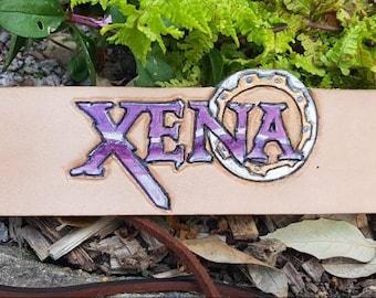 Xena Warrior Princess Logo design leather wristband