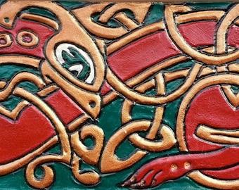 Celtic Knotwork Animal leather wristband