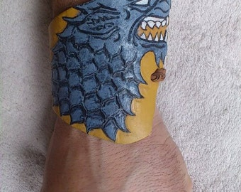 Game of Thrones - House of Stark Wolf Leather Wristband