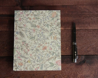 Pastel Floral Notebook Sketchbook or Journal // Coptic