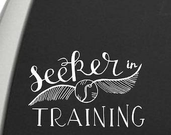 Seeker in Training Vinyl Decal - Seeker Decal - Window Decals + Laptop Decals - High Quality Geeky Vinyl Decals