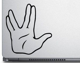 Live Long and Prosper - vinyl window decal - laptop decal - pick your size and color