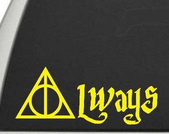 Always Decal - Always Snape Decal, Always Lily Decal, Snape Lily Decal, Snape Vinyl Decal, Always Vinyl Decal, Always Window Sticker
