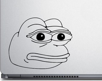 Pepe the Frog Meme, Smug Frog, Angry Pepe, Feels Frog, Feels Good Man, laptop decals, car window decals