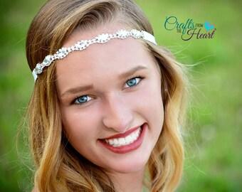 Bridal Rhinestone Headband - Crystal Headband - Rhinestone Headband - Flower Girl Headband - Bridal Headband - Wedding Headband - Headands
