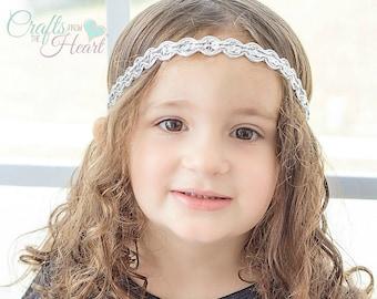 Silver Headband - Silver Boho Headband - Womens Headband - Bohemian Headband - Hippie Headband - Womens Headband - Adult Headband - Boho