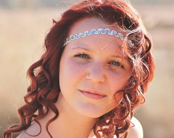 Silver Boho Headband - Bohemian Headband - Forehead Headband - Hippie Headband - Halo Headband - Womens Headband - Headbands for Teens