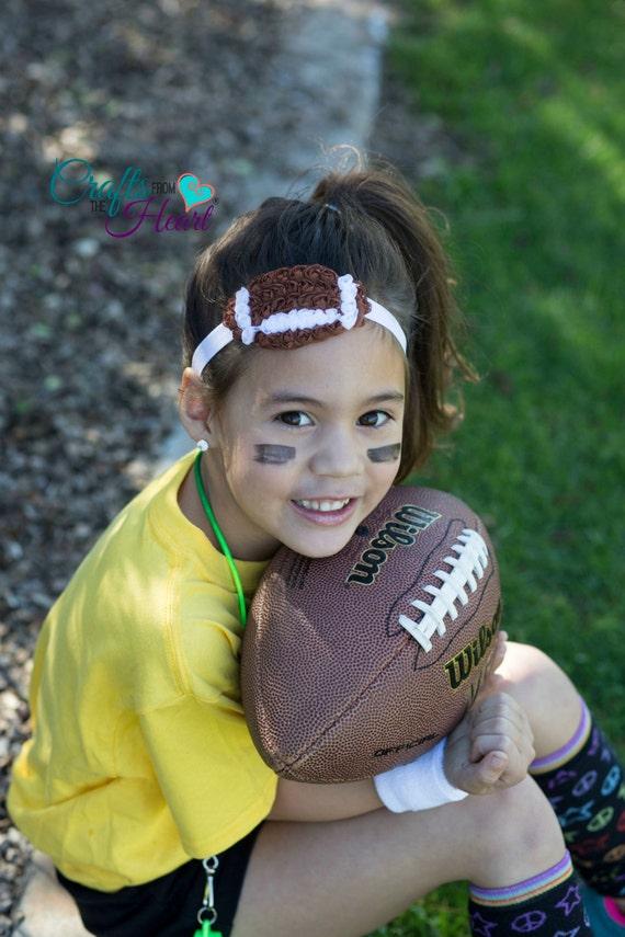 Football Headband Football Hair Bow Football Cheer Bow Etsy