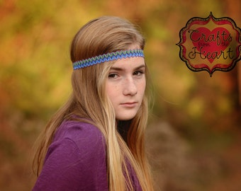 Headbands for Women - Purple Headband - Boho Headband - Bohemian Headband - Halo Headband - Adult Headband - Hippie Headband - Headbands