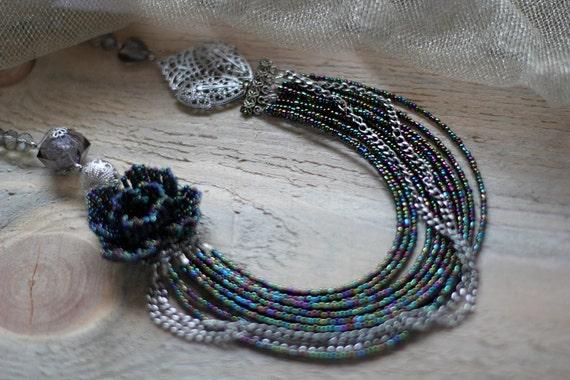 Perlen Muster Perlen Weben-Muster häkeln mit Perlen Halskette | Etsy