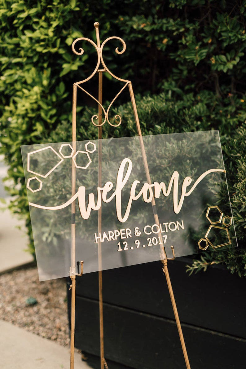 30 Custom Welcome Sign  Laser Cut Acrylic Personalized image 0