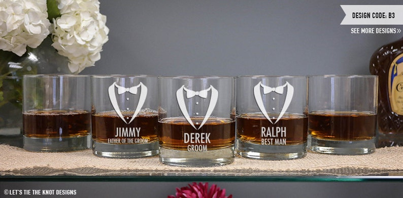 Personalised 11oz Dimple Base Whisky Glass Engraved Father Of The Bride Gift