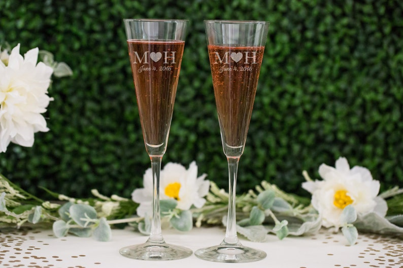 368e7aa0f03 Personalized Trumpet Champagne Glasses Set of TWO Custom image 0 ...