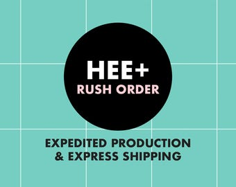 Rush Option 5 - Expedited Production and UPS 2 Day Express Shipping or 5 Day USPS Priority Mail Express International
