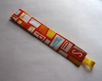 Letters fabric book mark