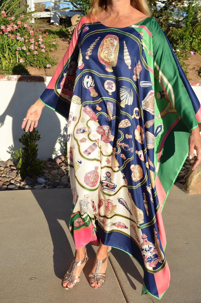 72f8ee91aab Designer Silk Caftan Womens Silk Kaftans Beach Coverup Plus