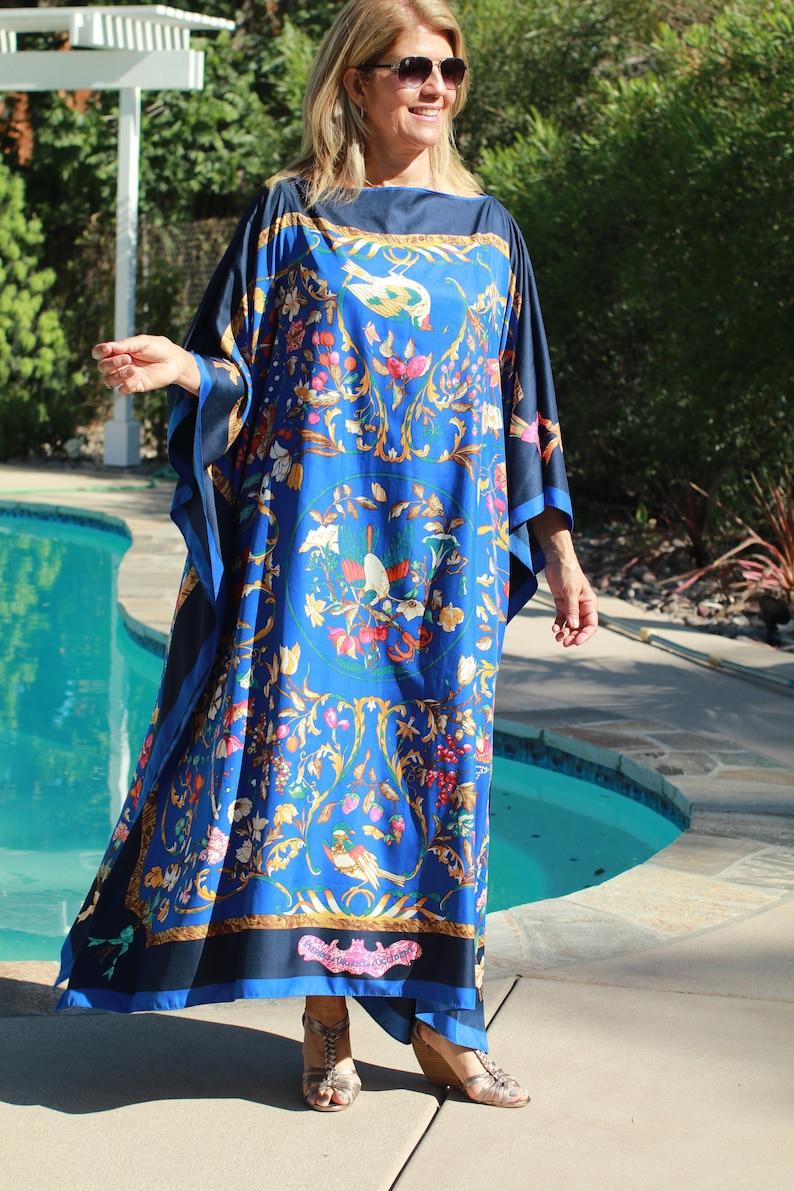 c418e93486d Hermes Designer Print Silk Caftan Womens Kaftans Silk Kaftans