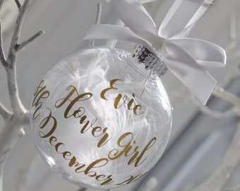 Will You Be My Flower Girl / Maid of Honour / Flower Girl  Personalised Christmas Bauble