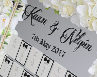 Bride & Groom Table Plan - To Fit A2 Frame Self Assemble