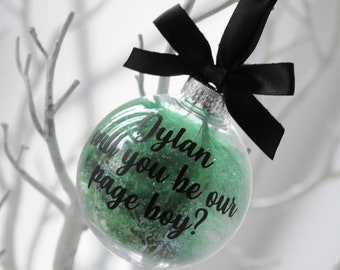 Will You Be My Page Boy Personalised Christmas Bauble