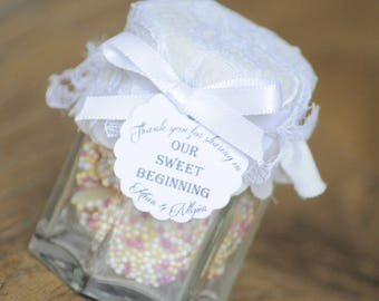 20x Our Sweet Beginning Favour Tags/Thank You/Favour