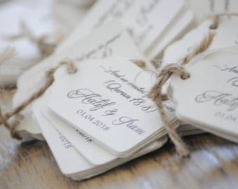 10x Personalised Qur'an Quoted Favour/Wedding Tags