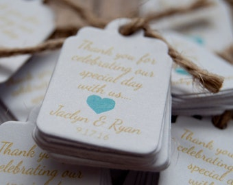 10x Mini Thank You Tags Favour/Wedding Tags