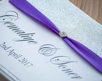 Simple Glitter Guestbook