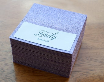 10x Personalised Lilac Glitter Sparkle Table Names/Place settings