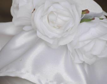 Floral White Testi Cover/ Clay Pot Cover
