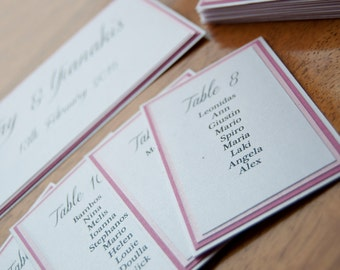 Pink Layer Card Table Plan - To Fit A3 Frame Self Assemble
