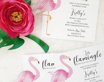 Lets Flamingle!  Bachelorette Invites, Bridal Shower Invites
