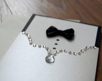 Bride & Groom Tie and Embellishment Wedding Invitation